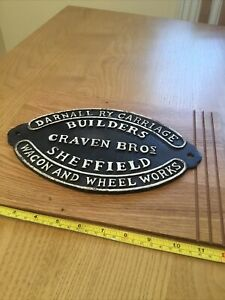 Darnall Carriage Builders Craven Bros Sheffield Wagon Wheel - Cast Iron Sign