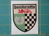 LAMBRETTA ( Vespa ) Scooter Castrol Racing Shield Sticker GP,TV,LI,SX,GT. 200