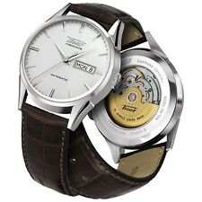 Tissot Men's T019.430.16.031.01 Brown Leather Automatic Dress Watch
