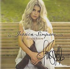 Jessica Simpson Autographed Signed CD  - Do You Know