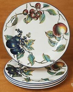 Pier 1 MACINTOSH / STAFFORDSHIRE Dinner plate set of 4, England, Fruit Very good