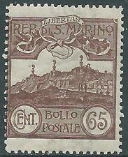 1903 SAN MARINO VEDUTA 65 CENT MNH ** - X5