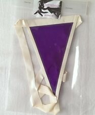 Latex rubber transparent purple string white trim / String latex violet transpar