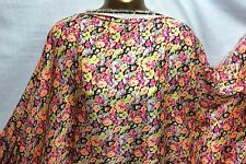 L/Weight Liquid Satin Bright Floral African Print 2 Dress/Craft Fabric*FREE P&P*