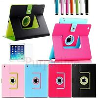 Magnetic 360 Rotating PU Leather Case Smart Cover With Stand for iPad Air 2 #02