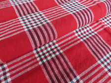 """Unused  Cottage Pillowcase Euro Sham Checked Linen 27 """" by 28"""" Germany Antique"""