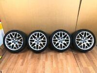 "✅ OEM BMW Rims E90 E92 E93 328 335 Wheels R18"" Front 225/40 Rear 255/35 Set of 4"