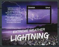 Ghana Stamps 2015 MNH Extreme Weather Lightning Meteorology Science 1v S/S