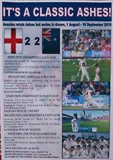 Australia retain Ashes 2019 v England - drawn series - souvenir print