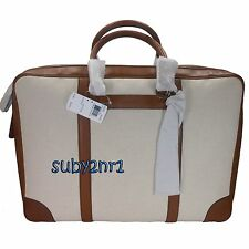 NWT Coach Men's Bleecker Canvas & Leather Suitcase Travel Luggage Bag F93250 NEW