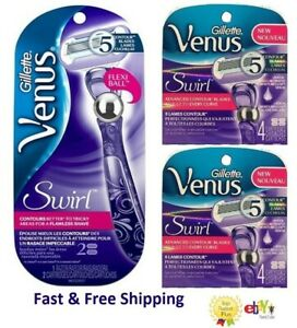 10 Gillette Venus Swirl Flexi Ball Razor Blades Cartridge Refill Flawless Shaver