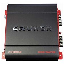 Crunch Px 1000.2 powerx Amp, clase ab, 2 Canales, 1,000 Watts Max Sonido Boost!!