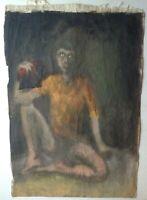 Tableau Ancien Expressionniste Portrait Homme dans le goût de Arnold Schönberg