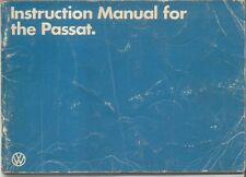 VW Volkswagen Passat Mk 2 1981-84 Original Instruction Manual (Handbook) English