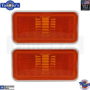 69 for GM Fender Side Amber Marker Light / Lamp Lens Housing Made in USA PAIR
