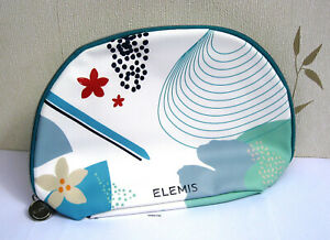 Elemis Large Blue Patterned Wipe Clean ( outer)  Lined Make Up Bag New