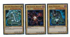 YUGIOH Blue-Eyes White Dragon, Red-Eyes B. Dragon, Dark Magician LC01-EN004-006