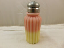 Victorian Mt. Washington Glass Burmese Ribbed Pillar Salt Shaker