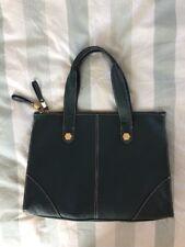 TKMAXX JANE SHILTON Dark Blue Grey Faux Leather Handbag Floral Lining