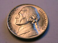 1943-D Jefferson 5C Choice BU Lustrous Silver War Nickel USA Five Cent WWII Coin