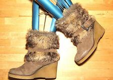 Dune Block Heel Suede Pull On Boots for Women