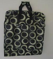 "Wally Wallybags Garment Travel Bag Black w/ Gold Circles 52"" x 22 1/2"""