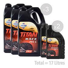 Car Engine Oil Service Kit / Pack 17 LITRES Fuchs Titan Race Pro S 10W-60 17L