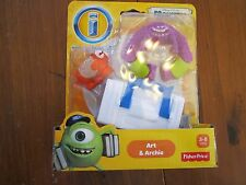 NEW Fisher Price Imaginext Disney PIXAR Monsters University U Art Archie cage