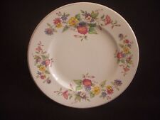 """BURLEIGH -7.75"""" PLATE -FLORAL PATTERN -c.1940"""