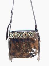 Cowhide Western Leather Handbag Cross Body Purse w/ Fringe Rodeo- K Bar J D16