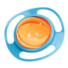Baby Feeding Dish Cute Baby Gyro Bowl Universal 360 Rotate Spill-Proof Bowl P4PM
