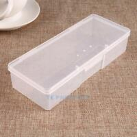 Plastic Clear Manicure Storage Box DIY Nail Arts Beads Container Organizer Case