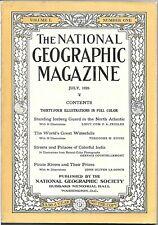 Jul 1926 National Geographic ICEBERG PATROL / WATERFALLS / INDIA / RIVER GEOLOGY