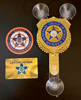 PBA LIFETIME MEMBER SUPPORTER GOLD CAR WINDOW SHIELD + CARD + DECAL STICKER