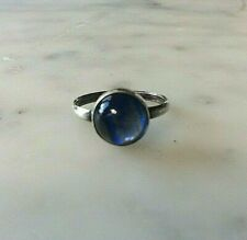 Ring   Size H Silver Sterling & Butterfly Wing  Original Vintage 1930s (104184V)