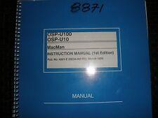 Okuma Osp-U100 & Ospu10 Mac Man Instruction Manual