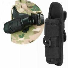 LED Flashlight Holder Carry Belt Pouch Nylon Holster Torch 360 Degrees Rotatable