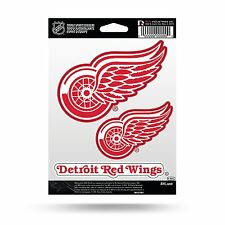 Detroit Red Wings Triple Sticker Multi Decal Spirit Sheet Auto Home Hockey