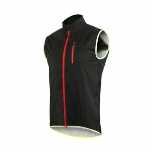 Sleeveless Windproof Cycling Vest Reflective Safety Outdoor Sportswear Wind Coat
