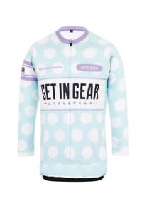 Girls Cycle Jersey, Short Sleeve Polka Dot Age 9/10 (Youth Medium)