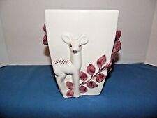 VTG. RED WING USA POTTERY 1120 DEER VASE 1941