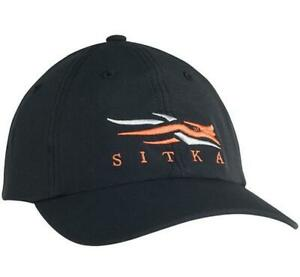 Sitka Cap Black ~ New ~ One Size Fits Most