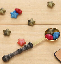Wax Stamp Seal Spoon Vintage Wood Handle Invitation Card Sealing Wax Spoons A#S