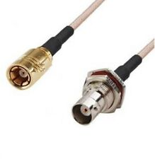 BNC Female (front nut) to SMB Female pigtail cable RG316 20cm            F4939K