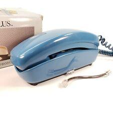 Vintage 1986 Starline Plus Pac Tel Landline Blue Telephone w/ Original Box! USED
