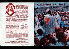 RELIGION (AFRIQUE) CALENDRIER de POCHE 1964 / OEUVRE PONTIFICALE de SAINT-PIERRE