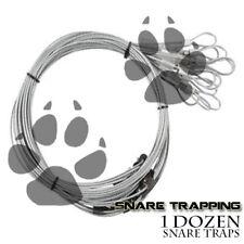 Snares 3/32 -Survival Traps Beaver Coyote 1 Doz.