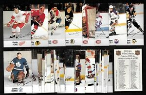 1983-84 CARD & 1988-89 ESSO ALL-STAR NHL HOCKEY STICKER & SCHEDULE SEE LIST