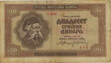 Ro.603 Besetzung Serbien 20 Dinara 1941 (4)