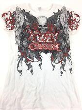 Ozzy Osbourne shirt Black Sabbath shirt Concert shirt Band tee White tee Tour L